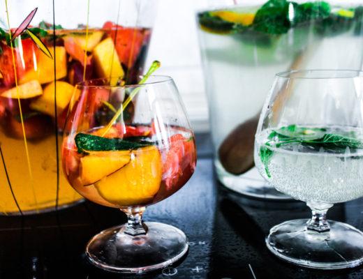 leckere Sommerbowle für heiße Tage